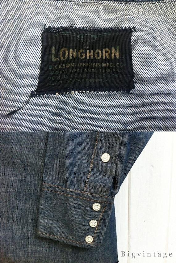 Vintage 50's Longhorn Western Shirt - image 3