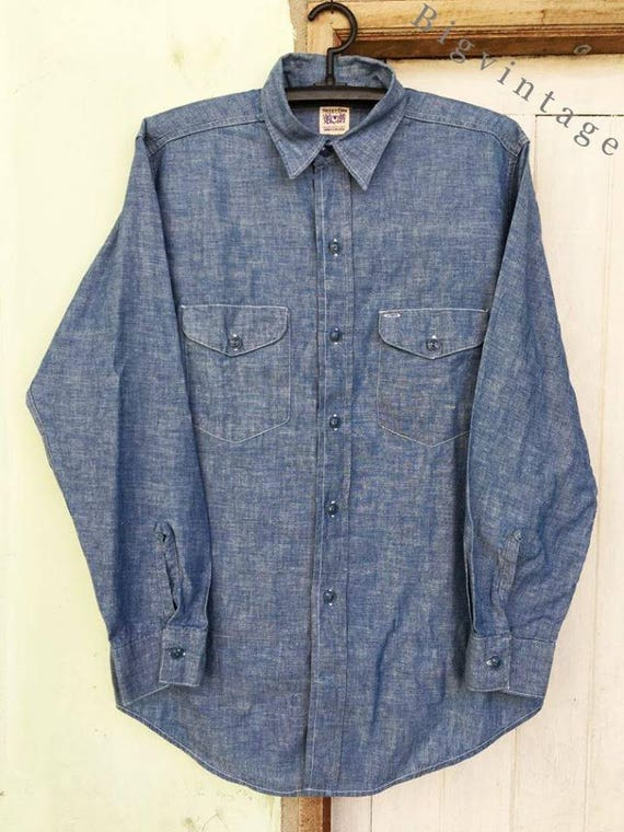 Vintage 50's Sweet-Orr Chambray Work Shirt One Was