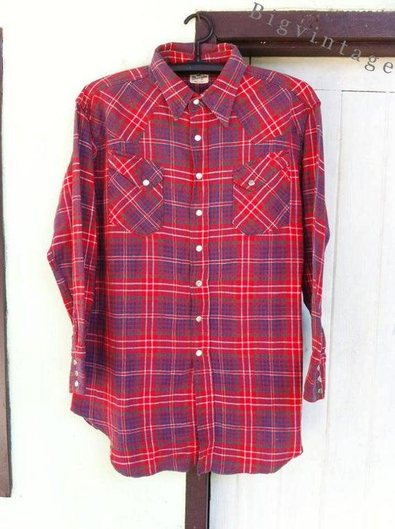 Vintage 50's WRANGLER Blue Bell Western Shirt Sanf