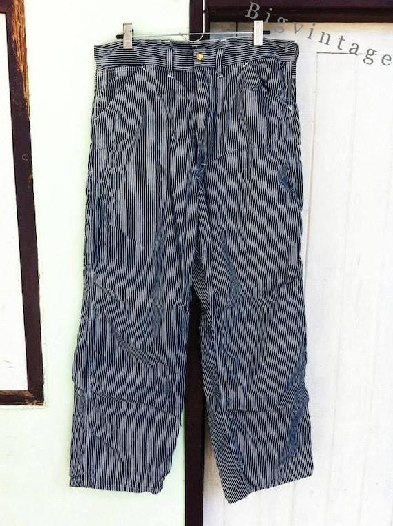 Vintage 50's LEE Hickory Stripe Denim Work Jeans G