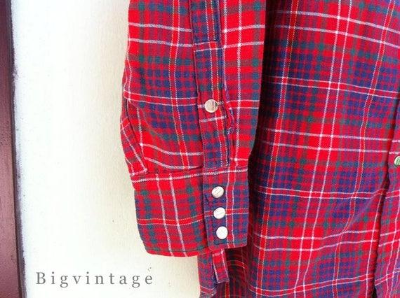 Vintage 50's WRANGLER Blue Bell Western Shirt San… - image 5