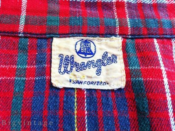 Vintage 50's WRANGLER Blue Bell Western Shirt San… - image 3