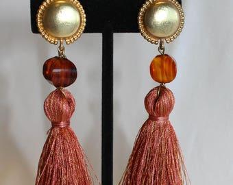 36c9a5a76 Clip on tassel earrings | Etsy