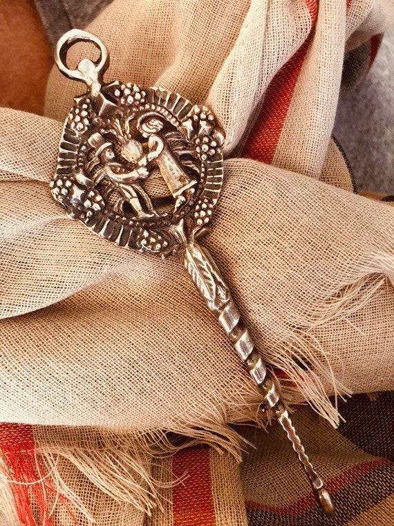 Celtic Cloak Pin, Sterling