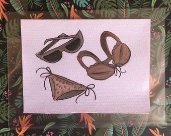 Coffee Bikini- Blank Cards