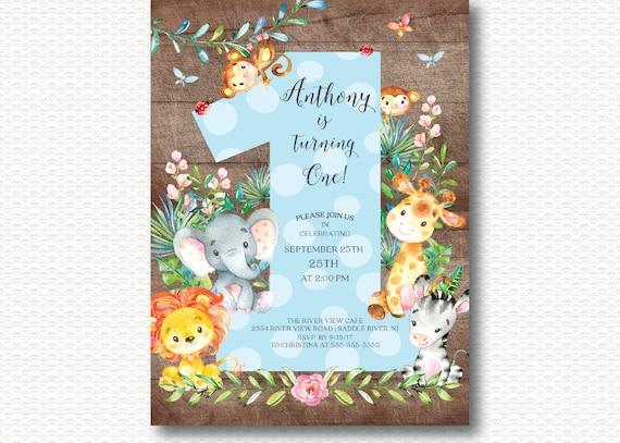Jungle 1st Birthday Invitations Gallery baby shower invitations ideas