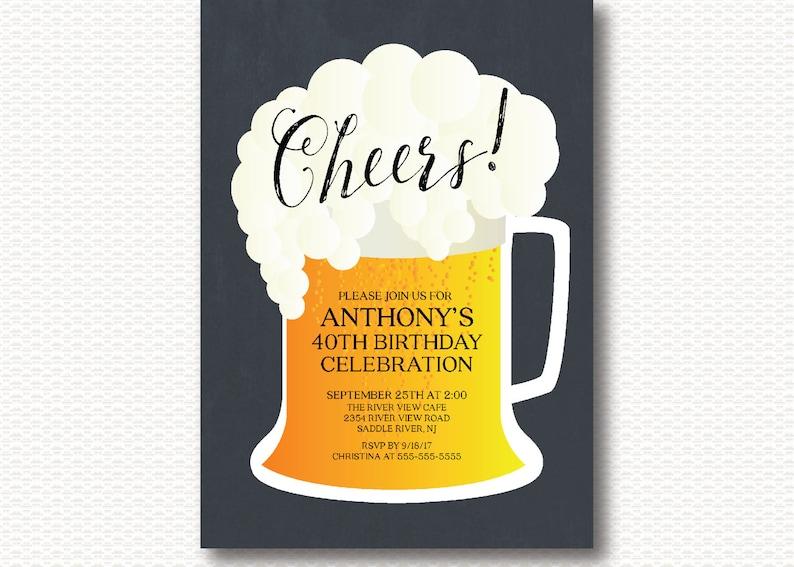Prost Geburtstag Einladung Geburtstagsparty Bier Grill Etsy