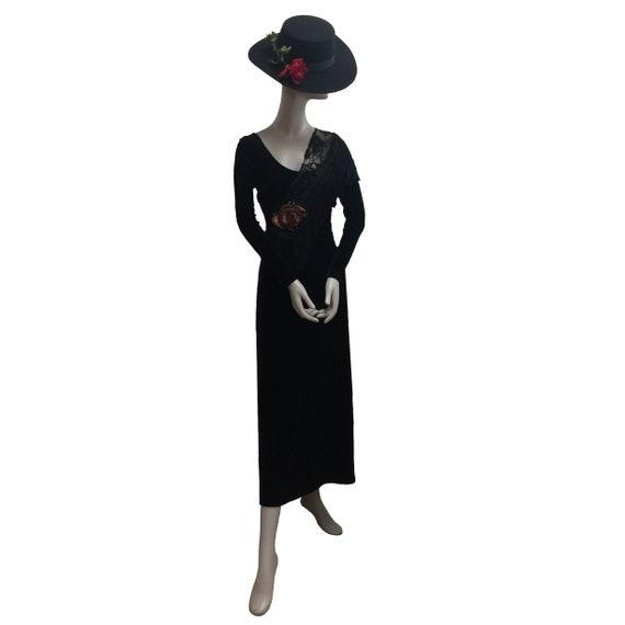 80's Stretchy Velvet Dress