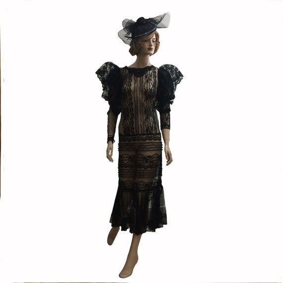 80's Victorian-Style Lace Dress