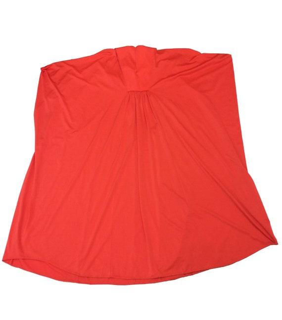 70's Orange Polyester Kaftan Dress - image 2