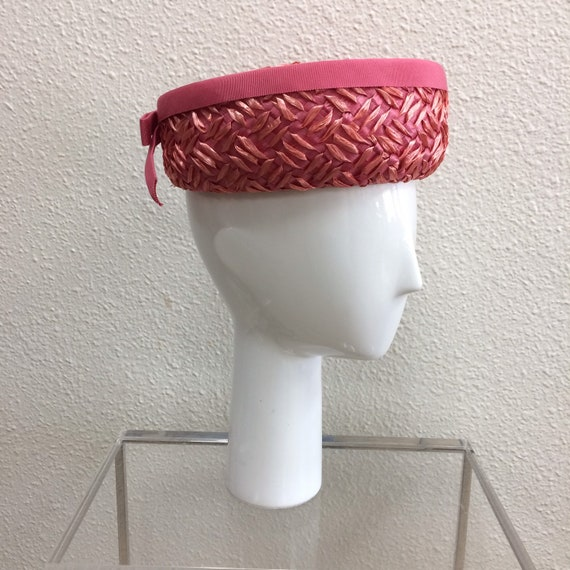 Pink 60's Pillbox Hat