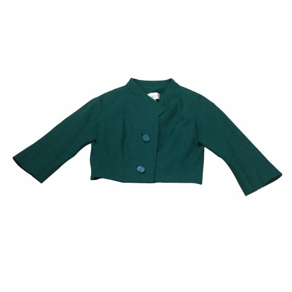 40's Cropped Green Wool Jacket