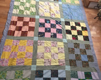 """Free Shipping. Set of 2 Vintage 1960's Quilt Tops, 63""""x96"""" each"""