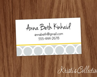 personalized calling cards stickers personal business mommy cards custom gift inserts enclosure cards geometric shaped cards - Personalized Calling Cards