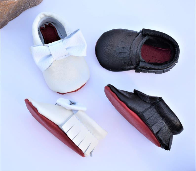 af54057ea5cb Baby Moccasins Red Bottom Baby Moccasins Red Sole Baby