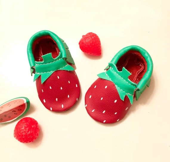 Baby Moccasins Strawberry Baby