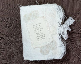 Fabric Covered Journal with Poem on the Cover