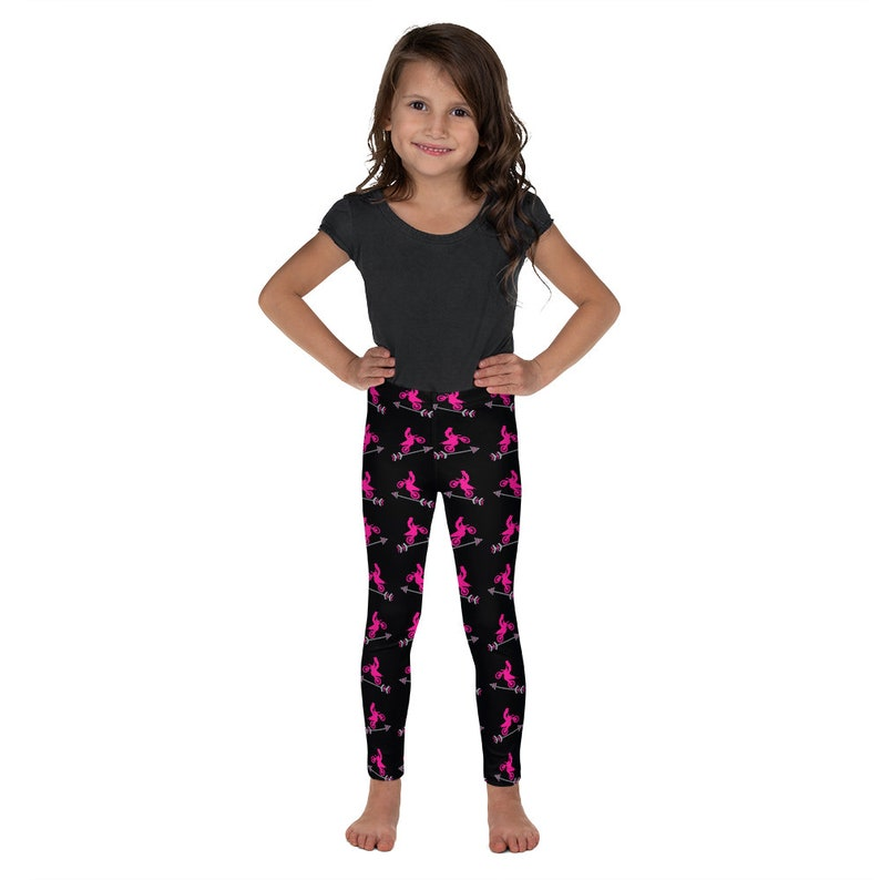Youth Size Tights; Pants Clothing Gift Kids/' Pink Dirt Bike /& Arrow Leggings \u2022 Motocross Girls Clothes; Toddler