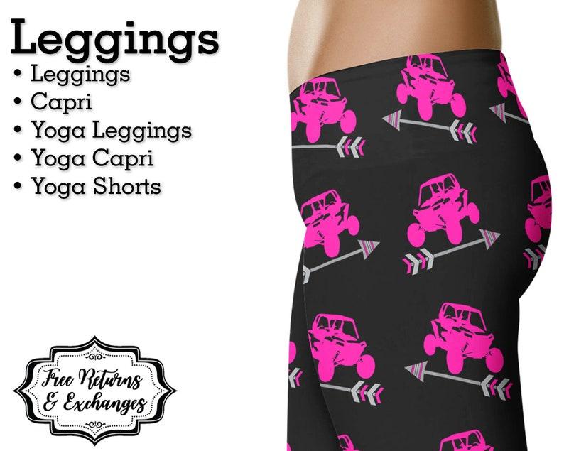 37c24668b1 Pink UTV   Arrow Leggings Side by Side Yoga Pants Capris or
