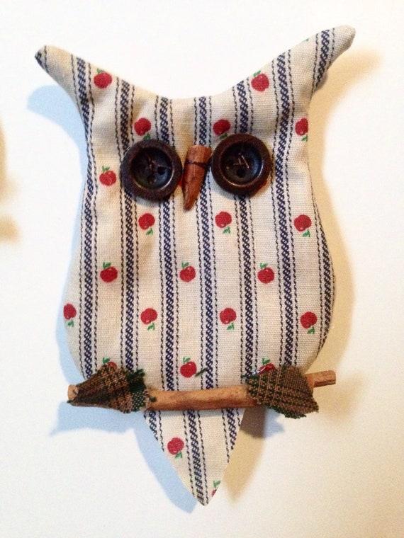 Owl Decor Kitchen Magnet Country Americana Apple Etsy