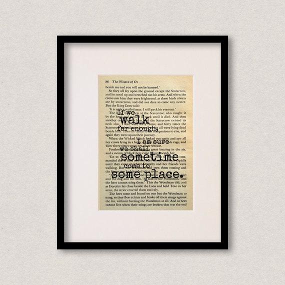 Wizard Of Oz Quote Print Best Friend Gift Birthday