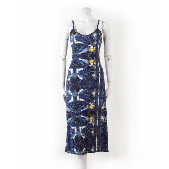 Midi dress Jean Paul GAULTIER blue angels, kaleido