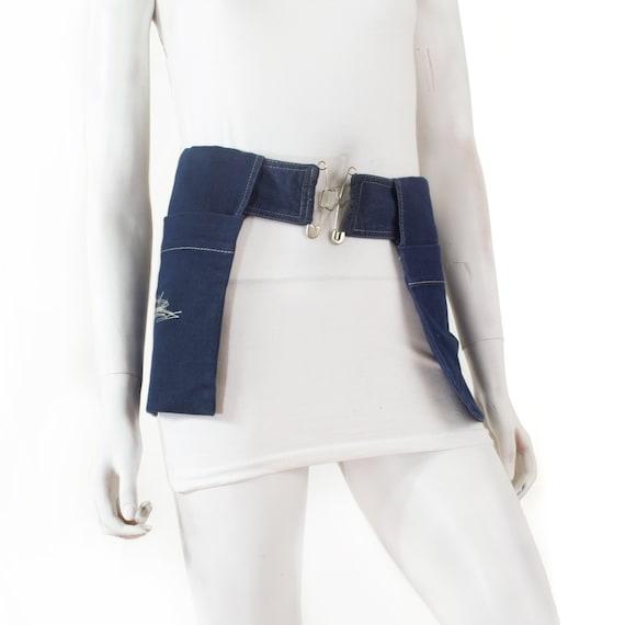 Jean Paul GAULTIER pockets belt, soft denim, large
