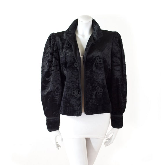 Ted LAPIDUS jacket in velvet treated with black as