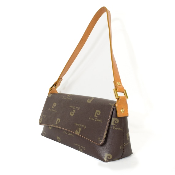 Pierre CARDIN bag grained coated canvas leather wi