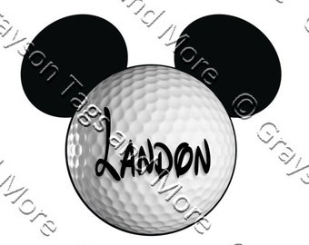 e1ab2a778c7 Personalized Golf Ball Disney Cruise Door Magnet (2 sizes to choose from)
