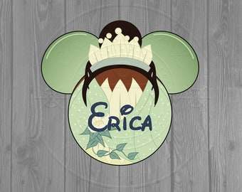 Disney Cruise Door Magnet - Princess Tiana Inspired Magnet (2 sizes to choose from)
