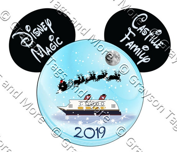 Disney Christmas Snow Globes.Christmas Snow Globe Disney Cruise Door Magnet