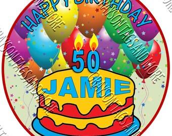 Oval Happy Birthday Cruise Door Magnet