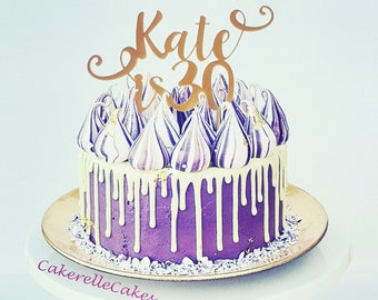 40th Cake Topper Etsy