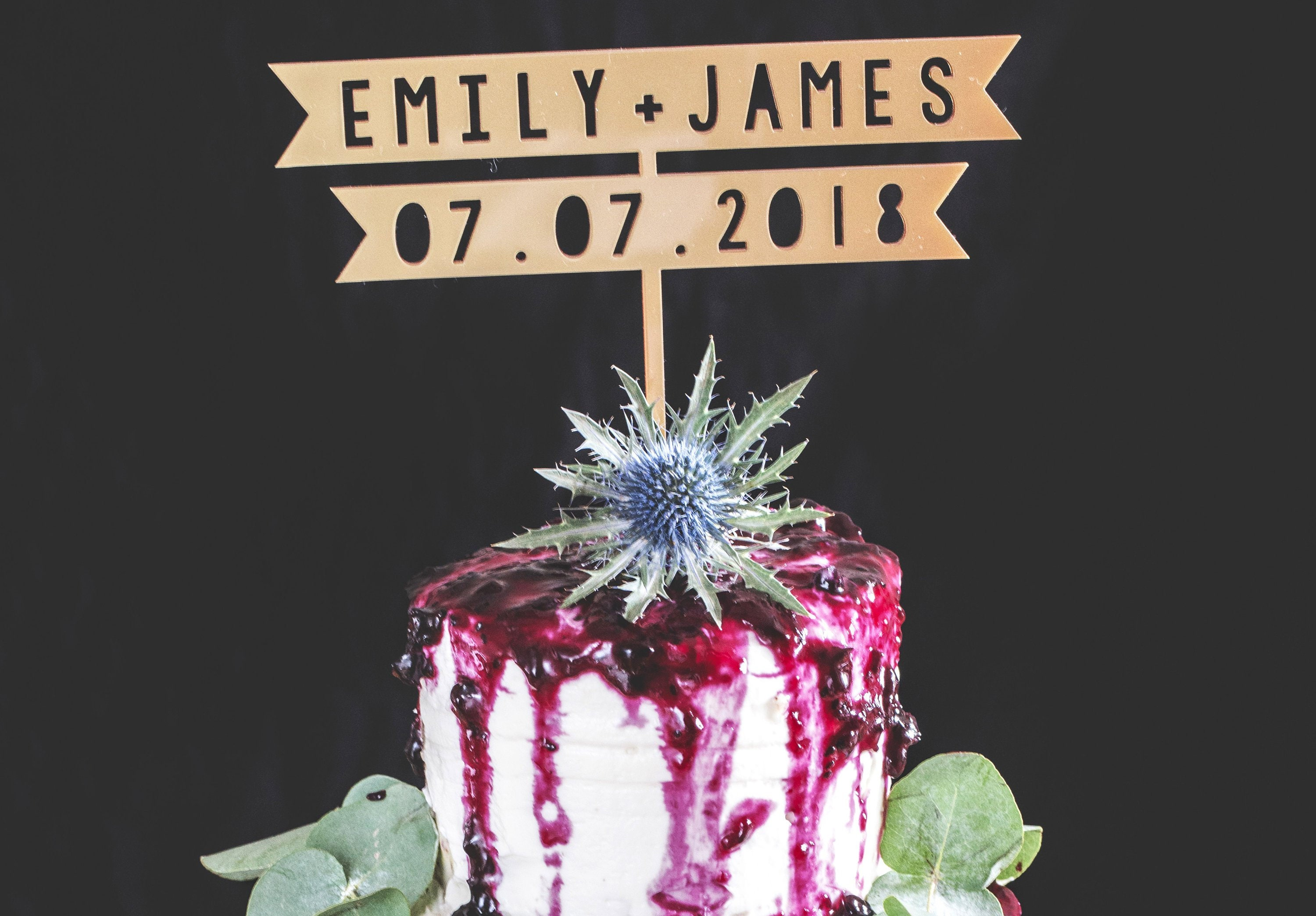 Wedding Cake Topper With Names And Date Personalised Mr Mrs Etsy