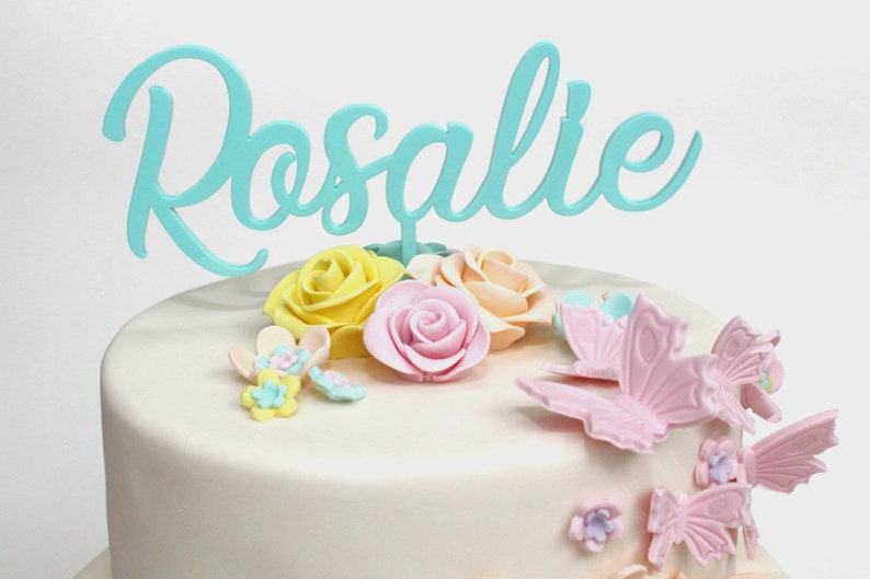 Personalised Cake Topper With Name Custom Made Acrylic