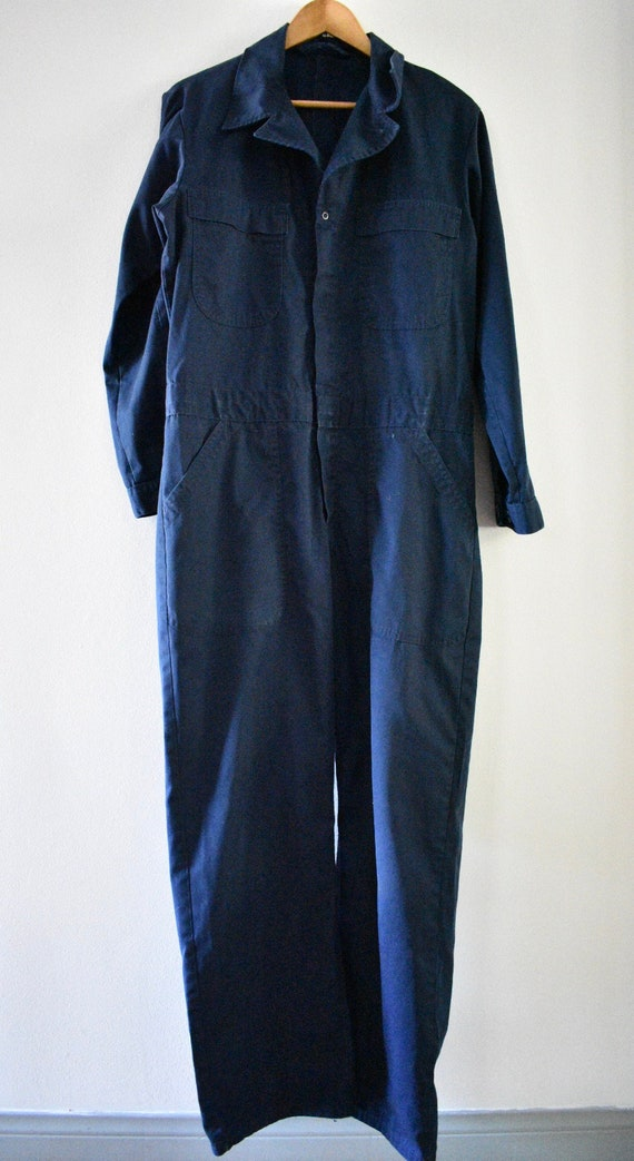Blue coverall jumpsuit