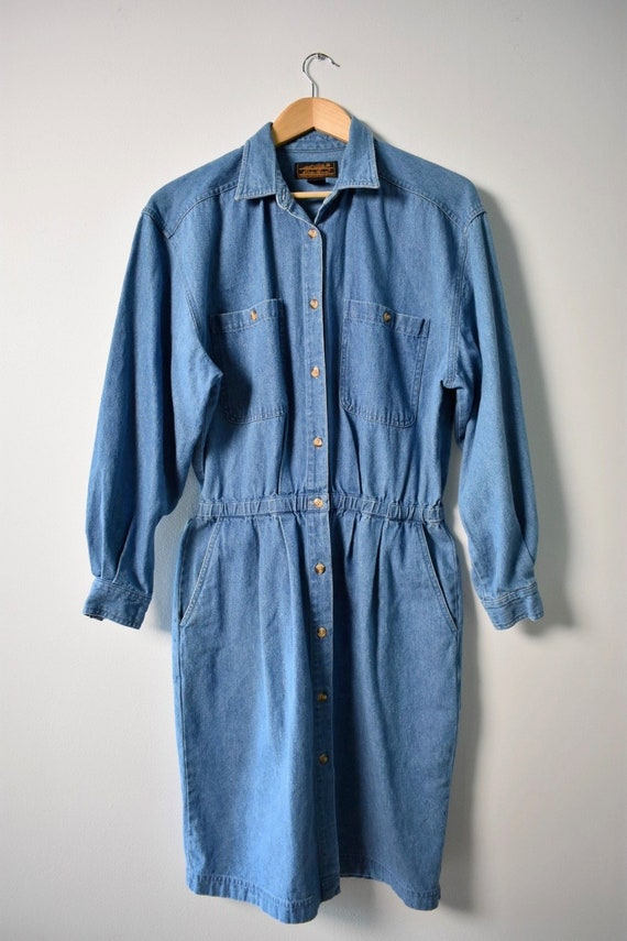 1980s Denim dress