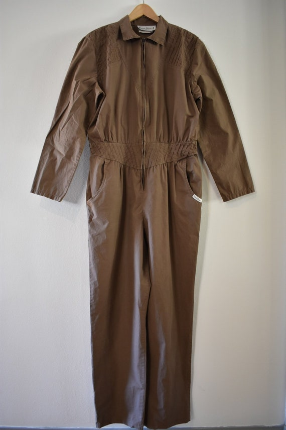 Brown 1980s jumpsuit
