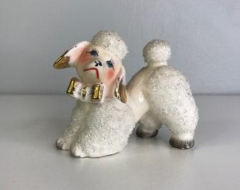 vintage ceramic poodle