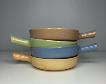SALE! set of four vintage mid century modern La Solana pottery serving dishes
