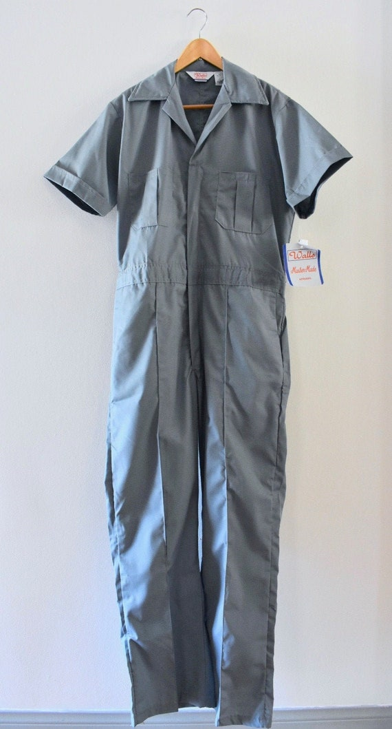 Gray coverall workwear jumpsuit