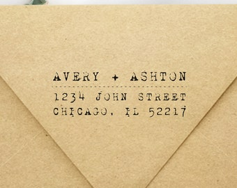 Christmas Gift Casual Type Font Retro Type Writer Personalized Address Stamp Typewriter Address Custom Self Inking Return Address Stamp