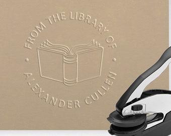 Embosser, Book Embosser, Library Embosser, Custom Embosser, Books, Personal Library, Personalized Gift, Reader, Emboss, Embossed, Ex Libris