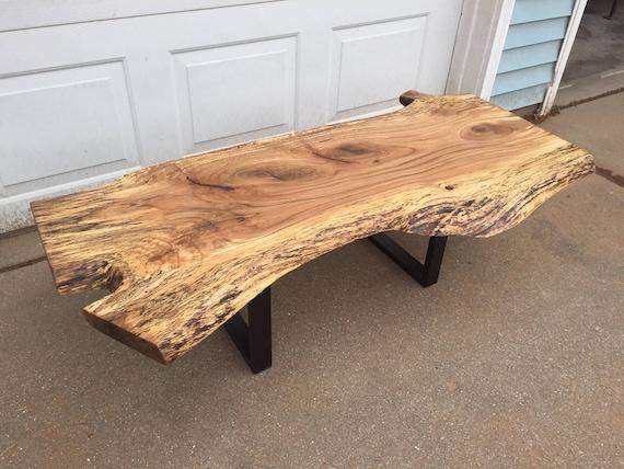 Custom Live Edge Coffee Tables With Steel Legs Rustic Coffee Etsy