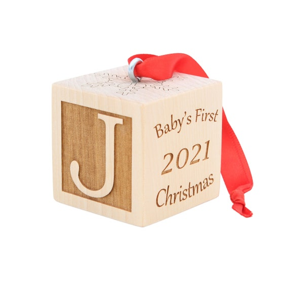 My First Christmas Ornament 2021 Baby S First Christmas Ornament 2021 Personalized Custom Etsy