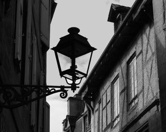 Sarlat | France | Photographic Print | Photography | Landscape | Black and White | Travel | Decor | Home | Wall Art | Town