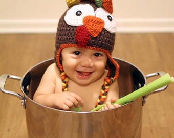 Newborn Turkey Hat Newborn Thanksgiving Hat Baby Turkey Hat  caa15d3e5027