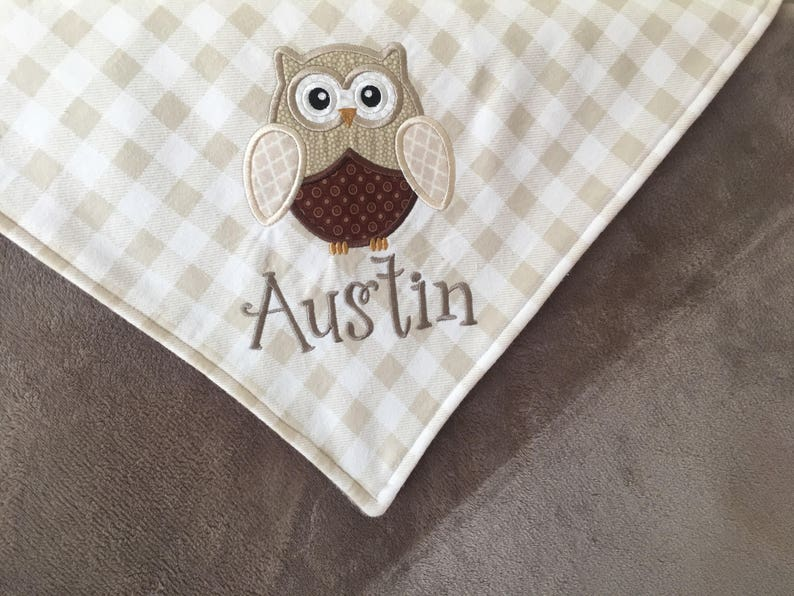 Owls Baby Blanket Can Be Personalized 36x40
