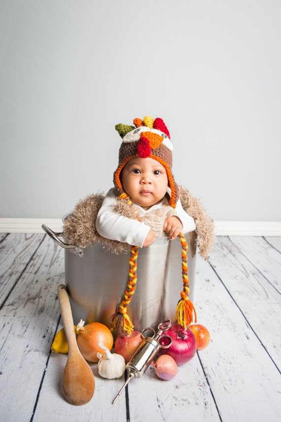 Newborn Turkey Hat Newborn Thanksgiving Hat Baby Turkey Hat  c61a28c3d14